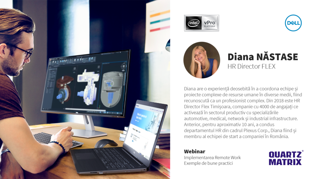 Webinar Work from home Dell si Intel - Speaker Diana Nastase