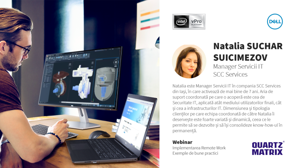 Webinar Work from home Dell si Intel - Speaker Natalia Suchar